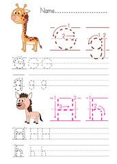 Alphabet handwriting G&H