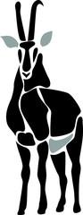 stylized sable antelope
