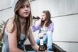 Leinwanddruck Bild - Jugendprobleme