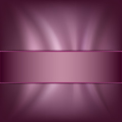 Background with a satin ribbon and silk fabric
