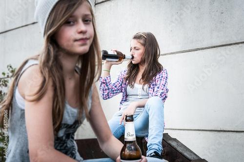 Leinwanddruck Bild Jugendprobleme