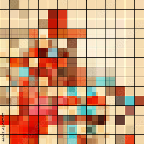 abstract mosaic background with retro colors
