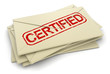 certified letters  (clipping path included)