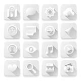 Vector eps10 illustration of white app buttons.