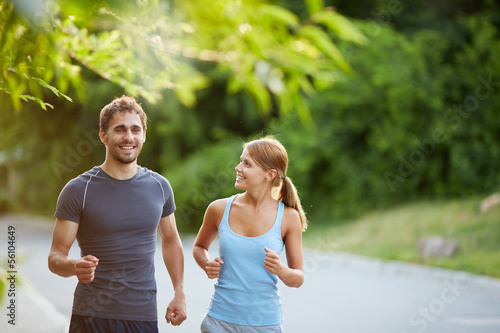 Friendly runners