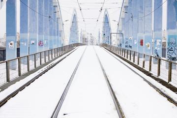 Pont du tram en hiver