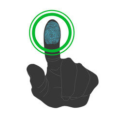 Touch, ID, Fingerprint scan Access Symbol