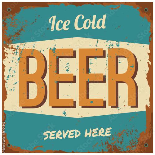 Beer Metal Sign Poster