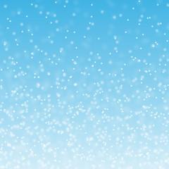 пушистый снег на синем фоне