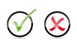 Haken und Kreuz Icons im Kreis