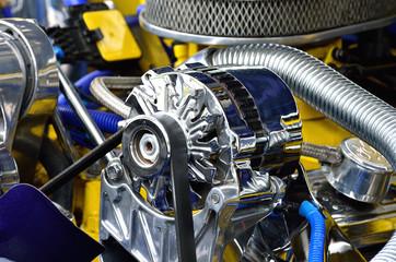 Detail of car engine