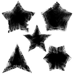 Stars - Grunge Vector Illustration Background