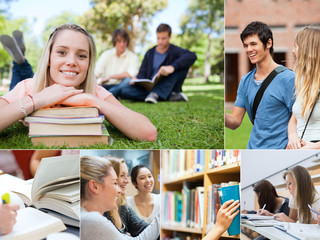 Collage of students