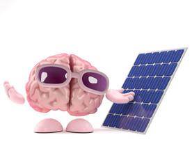 Brain with solar panel