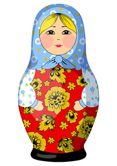 Matrioshka babushka doll illustration