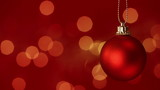 Red Christmas Bauble with Copy Space