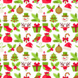 Merry Christmas seamless pattern.