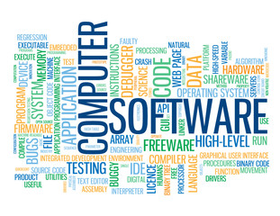 """COMPUTER SOFTWARE"" Tag Cloud (internet information technology)"