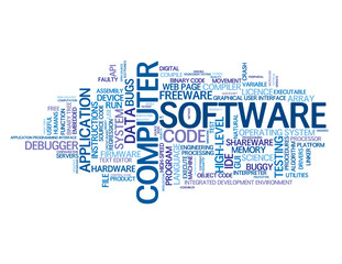 COMPUTER SOFTWARE Tag Cloud (information technology mobile apps)