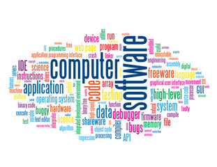 """""""COMPUTER SOFTWARE"""" Tag Cloud (information technology web apps)"""