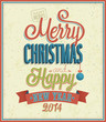 Merry Christmas typographic design.