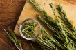 Fresh organic rosemary is