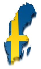 Sweden (clipping path included)