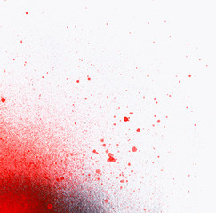 Splatter paint background, red color texture