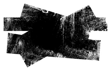 Grunge Edges Messy Shape Vector