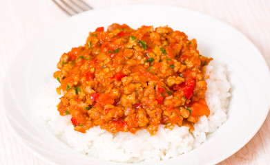 rice with Bolognese sauce