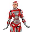 WOMAN ROBOT pin up close up