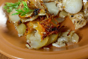 Baked potatoes wedges
