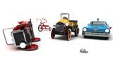 Sicurezza stradale, incidente, giocattoli, vittima, bambini