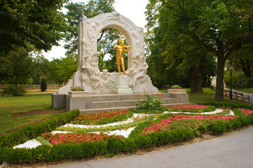 Johann Strauss Golden Statue