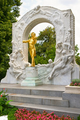 Johann Strauss Golden Statue in Vienna StadtPark