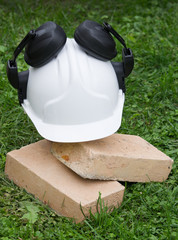 Safety equipment on building site