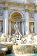 fountain of trevi in Rome with the statue of the God Neptune in