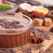 chocolate mousse and ingredient