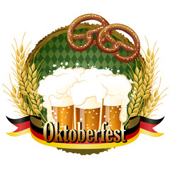オクトーバーフェスト Woody frame Oktoberfest Celebration design