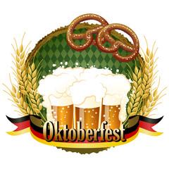 オクトーバーフェスト Woody frame Oktoberfest Celebration design