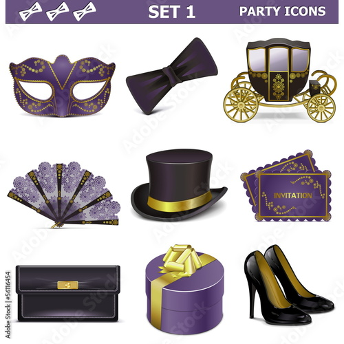 Vector Party Icons Set 1