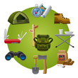 hike equipment icon