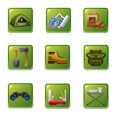 tourism equipment icon