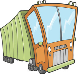 Cute Big Truck Vector Illustration Art