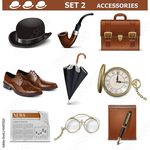 Vector Male Accessories Set 2