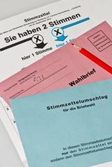 Briefwahl- Unterlagen