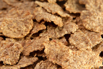 Close up of bran flakes