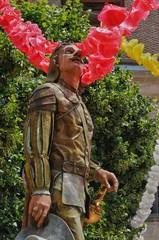 France, the statue of Cyrano de Bergerac
