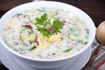 Vegetable soup ( okroshka )