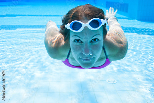 Underwater in pool